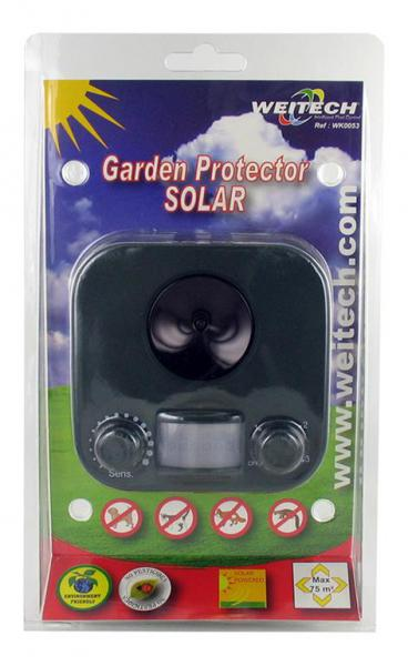 Работает от световой энергии, благодаря наличию солнечной батареи.  В устройстве вмонтирован датчик движения.